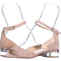Nine West Volor Kitten Heel Sandals 723, Natural, 6 US - $28.79