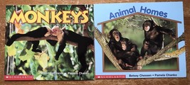 Lot 2 Paperback Books Science Vocabulary Readers Scholastic Animal Monkeys Unit - $7.92
