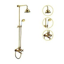 Ti-PVD Tub Shower Faucet with 6 inch Shower Head + Hand Shower - $471.19