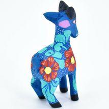Handmade Alebrijes Oaxacan Wood Carving Painted Folk Art Mountain Goat Figurine  image 4