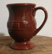 Longaberger Classic Woven Traditions Latte Mug. Dark Red unused - $14.99