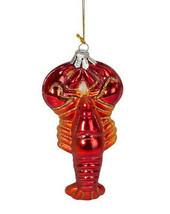 BEACHCOMBERS HAND BLOWN GLASS LOBSTER COASTAL NAUTICAL CHRISTMAS ORNAMENT - $10.88