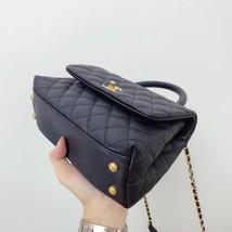 100% AUTH CHANEL SMALL COCO HANDLE BAG BLACK CAVIAR GHW image 8