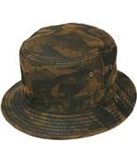 Henschel Cotton Blend Bucket Hat Medium Brim Eyelets To Ventilate Dark Camo - $43.00