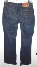 EXPRESS Jeans Sz 3/4 Short Hipster Flare Dark Wash Blue Denim Low Rise Cotton - $26.72