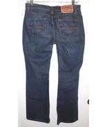 EXPRESS Jeans Sz 3/4 Short Hipster Flare Dark Wash Blue Denim Low Rise C... - $26.72
