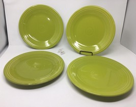 "Set of 4 Fiesta Lemongrass (Green / Yellow) Dinner Plates, 10 1/2"" Diame... - $39.99"