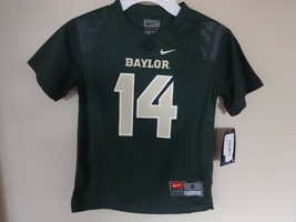 New With Tags Nike Baylor Bears # 14 NCAA Football Jersey Boys Youth 4T 4 Green - $15.87