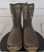 Under Armour Men's Boots Size 8 Brown Mossy Oak Bottom Land Winter OutDoor - $89.99