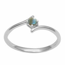 Amazing Stackable Design Solid 925 Sterling Silver Natural Labradorite B... - $5.55