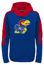 Kansas Jayhawks adidas Youth Boys Performance Hooded Sweatshirt Hoodie -... - $15.95