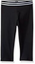 Onzie Girls' Big Elastic Capri, Black, 14-16 - $41.74