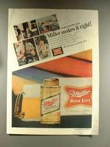 1968 Miller High Life Beer Ad - Makes it Right - $14.99