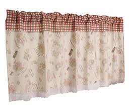 24station [P] Retro Kitchen Tier Curtain Cafe Curtain Short Window Curtain - $21.83
