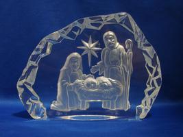 Vintage L.E. Smith Glass Iceberg Nativity Scene Paperweight #294  - $20.00