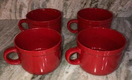 Royal NORFOLK-Christmas/Holiday Red CEREAL/SERVING Bowl Set Of 4-Micro/Dish Safe - $54.33