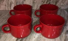 Royal NORFOLK-Christmas/Holiday Red CEREAL/SERVING Bowl Set Of 4-Micro/Dish Safe - $48.88