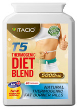 T5 Thermogenic Diet Blend 5000mg Weigh Loss Fat Burning 60s Pills - $25.16+