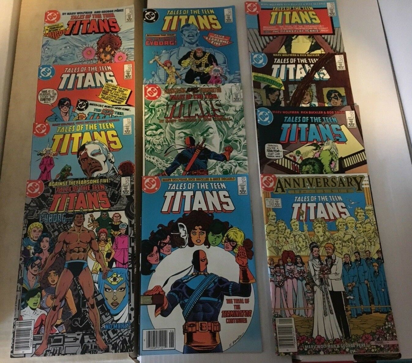 Tales Of The Teen Titans #50 - 60 1985 VF/VF+ Condition DC Comic Book Lot Of 11