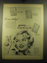 1949 Zippo Cigarette Lighters Ad - Oh, you darling - $14.99