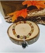 Prehnite Gemstone Diffuser Bracelet Handmade with Sterling Silver - $11.00