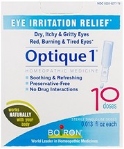 Boiron Optique 1 Eye Drops, 10 Single-use Doses Pack of 3, Homeopathic Medicine
