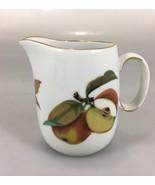 """Royal Worcester Evesham Gold Porcelain Creamer 3 1/2"""" Apples Berries - $20.83"""