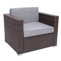 7 Pieces Patio PE Wicker Rattan Corner Sofa Set image 10