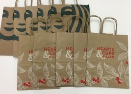 """10 NEW Starbucks Paper Lunch Gift Bags Holiday Shopper, 8"""" x 10"""" x 4.5"""" - $21.78"""