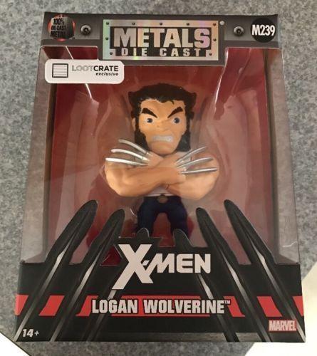 Die Cast Metals X-Men Logan Wolverine Figure M239 NIB Jada Loot Crate Exclusive