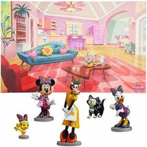 Disney Minnie Mouse figurine playset with Playmat Fun Creative Genuine Authentic - $24.74