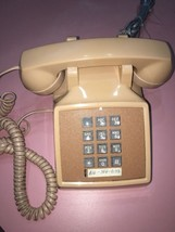 "VINTAGE WESTERN ELECTRIC TELEPHONE ~ 2500MM DESK PHONE  ""PEACH""! RARE CO... - $37.83"