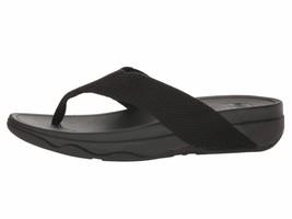 Fitflop Surfa Black Women's T-Strap Wedge Sandal H84-001  - $49.00