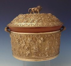Baltimore Rose by Schofield Repousse Sterling Casserole Dish with 3D Lion #0102 - $8,955.00