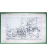 "1846 ANTIQUE ORIGINAL MAP - SPAIN France Pyrenee Mountains 10 x 15"" (25 ... - $18.90"