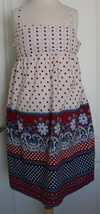 OLD NAVY Girls Dress Size Large 10-12 Polka Dotted Paisley Floral Summer Patriot - $11.87