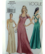 Vogue Pattern 8150 Awesome Lady's ruched gown evening dress Size 12 14 1... - $11.08