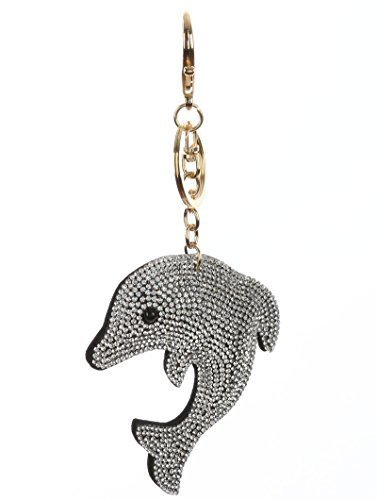 Bling Pave Crystal Pillow Key Chain Handbag Charm Key Fob Charm (Dolphin)