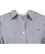RALPH LAUREN Size 2X Purple White Striped Non-Iron Monogram Shirt Mint Cond - $26.99