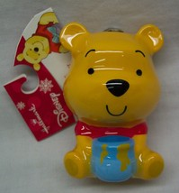 "Walt Disney CUTE WINNIE THE POOH BEAR 3"" HALLMARK CHRISTMAS HOLIDAY ORNA... - $14.85"