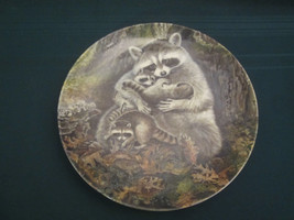 RACCOON Collector Plate A PROTECTIVE EMBRACE Yin-Rei Hicks - Bradford Ex... - $15.00