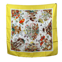 Authentic Gucci Vintage Floral Silk Scarf Funghi Mushrooms 1967 Accornero - £199.56 GBP