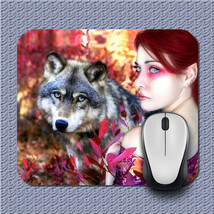 Beauty Amd Wolf Mouse pad New Inspirated Mouse Mats Ac8 - $6.99