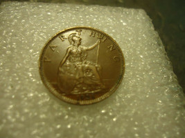 1928 ENGLISH FARTHING PENNY       USA SELLER SAVES YOU SHIPPING FROM U.K. - $2.96