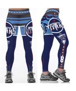 Womens Leggings NFL Team TENNESSEE TITANS #8 - Fan Gear Football Apparel... - $24.99