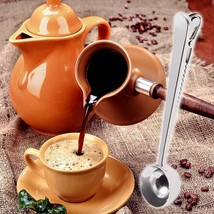 Multifunction Stainless Steel Coffee Scoop With Clip Coffee Tea Measurin... - £1.81 GBP