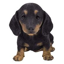 Pacific Giftware PT Realistic Look Black and Tan Short Legged Dachshund Puppy Do - $24.74