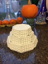 Fenton Hobnail Milk Glass Octagon Stacking Ashtrays - Set Of Three Pristine! - $22.98