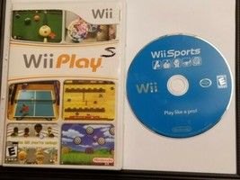 Nintendo Wii Sports And Wii Play Video Game Bundle Lot Complete Tested & Works! - $32.22