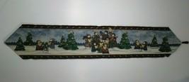 "Christmas Table Runner Snowman Family Caroling 70"" x 13"" Holiday - $14.36"